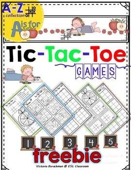 -FREEBIE-  ALPHABET  TIC-TAC-TOE Games