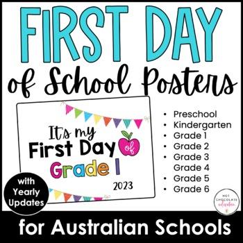{FREEBIE}- AUSTRALIAN SCHOOLS: It's my FIRST day of school SIGN! Preschool & K-6