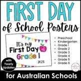 FREEBIE | 2021 AUSTRALIAN SCHOOLS: FIRST day of school SIG