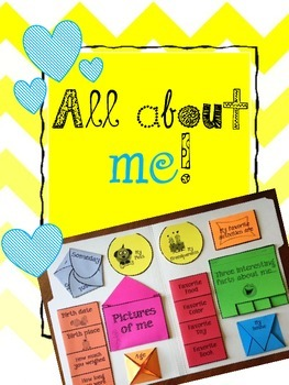"""""""All About Me"""" Lapbook & Interactive Notebook / Back to School"""
