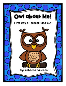 *FREEBIE* All about Me Owl Themed Back-to-School Worksheet