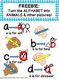 *FREEBIE*Alphabet Animals: Magically draw the ABCs into the same letter animal!