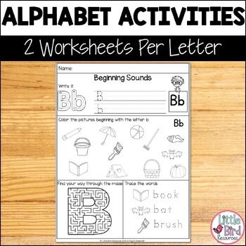 *FREEBIE* Alphabet Beginning Sounds Mixed Worksheets Sample