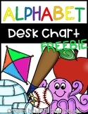 Alphabet Desk Charts FREEBIE