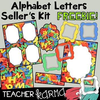 (FREEBIE) Alphabet  Graphics - Plastic Letters SELLER'S KIT
