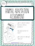 *FREEBIE* Animal Adaptation Polar Bear Assignment!