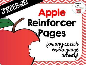 {{FREEBIE}} Apple Reinforcer Pages