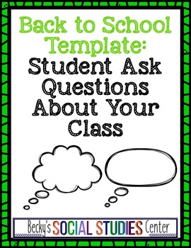 Back to School: Student Questions About Your Class