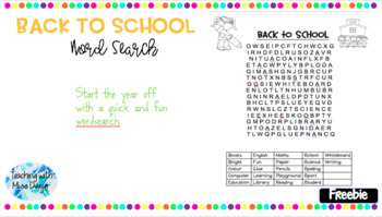 [FREEBIE] Back to School Word Search