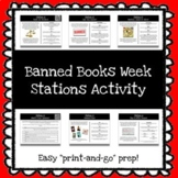 *FREEBIE* Banned Books Week Stations Activity *Print & Go Prep*