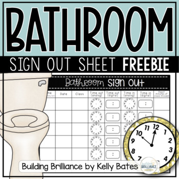 {FREEBIE} Bathroom Sign Out
