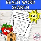 * FREEBIE* Beach Themed Simple Summer Word Search