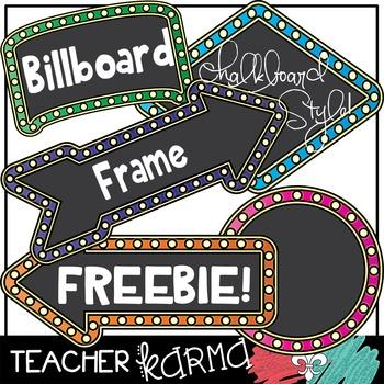 (FREEBIE) Billboard Frames in Chalkboard Style