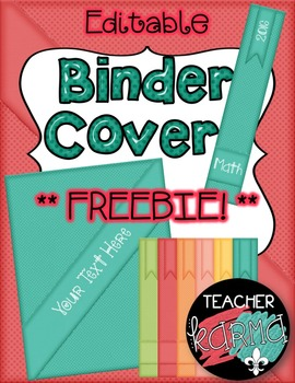 Binder Covers ~ Editable  ~ Organization ~ MINI DOWNLOAD D