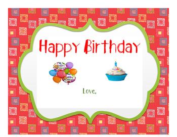 **FREEBIE***  Birthday, Congratulations or Way to Go Certificates