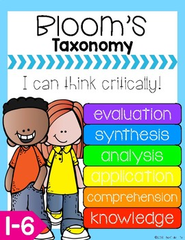 FREEBIE Bloom's Taxonomy Critical Thinking Verb Posters and Question Strips