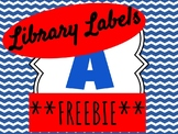 **FREEBIE** Blue Library Labels
