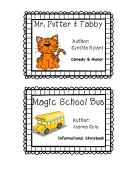 ***FREEBIE** Book Bin Labels Fiction-Series Sampler