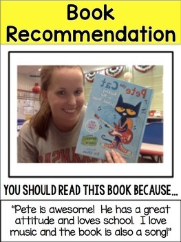 *FREEBIE* Book Recommendation Poster *EDITABLE*