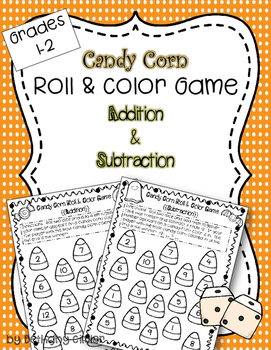 Roll & Color Game Addition & Subtraction | Freebie