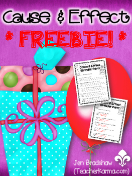 {FREEBIE} Cause & Effect Printables ~ TEST PREP!  Reading