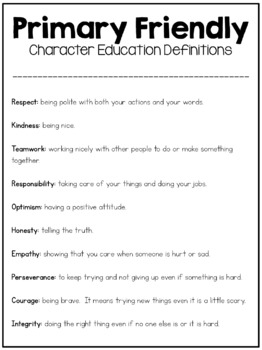 {FREEBIE} Character Education Made Easy!