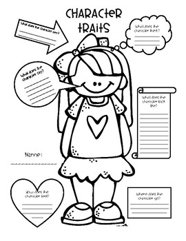 Accomplished image throughout character graphic organizer printable