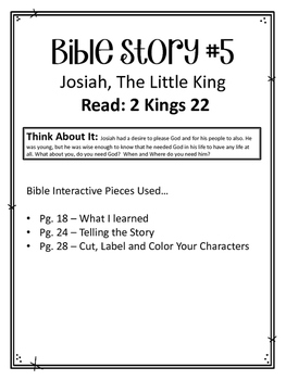 {FREEBIE} Children of the Bible Series. Interactive Notebook Ideas.