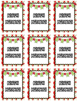 *FREEBIE* Christmas Contractions (will, am, not)
