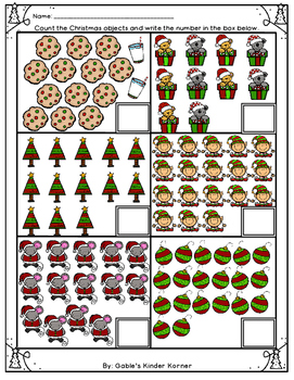 *FREEBIE* Christmas Counting