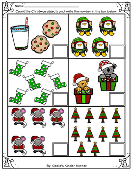 *FREEBIE* Christmas Counting