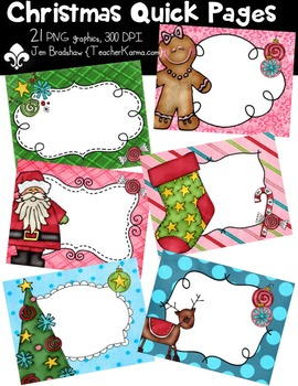 {FREEBIE} Christmas Tree QUICK PAGE Seller's Kit Clipart ~ Commercial Use OK