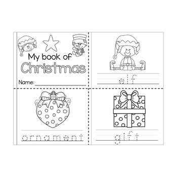 *FREEBIE* Christmas Words Mini Book