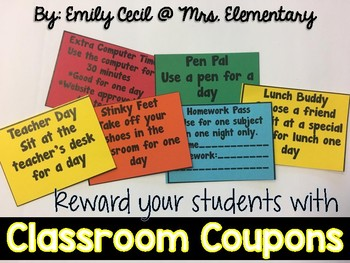 *FREEBIE* Classroom Coupons