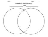 Comparing and Contrasting (cut&paste) Venn Diagram *Editable*