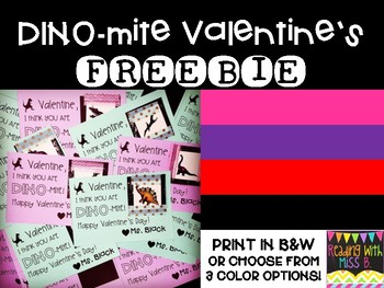 {FREEBIE!} DINO-mite Printable Valentine's