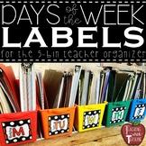 *FREEBIE* Days of the Week Bin Labels