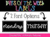 *FREEBIE* Days of the Week Labels