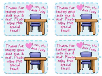 *FREEBIE* Desk Fairy Tags