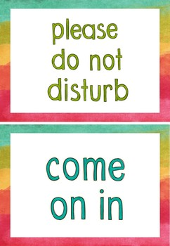 {FREEBIE} Door Signs (Come on in/Please do not disturb)