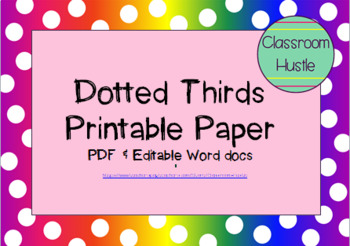 **FREEBIE** Dotted Thirds Printable Paper