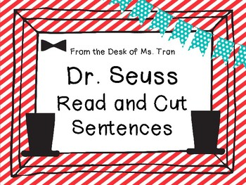 **FREEBIE** Dr. Seuss Read and Cut Sentences