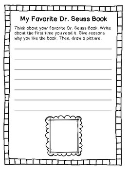 **FREEBIE** Dr. Seuss Writing Activities
