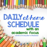 **FREEBIE & EDITABLE** Home-Learning Schedule with an Acad