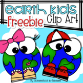 **FREEBIE**Earth Kids Clip Art - Earth Day Clip Art