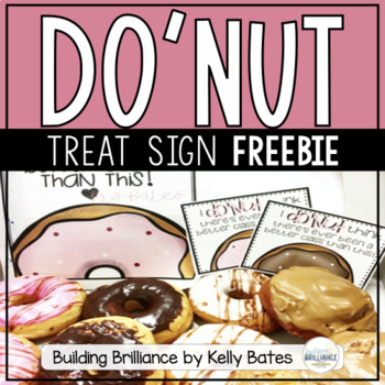 "{FREEBIE} Editable ""Donut"" Treat Sign"