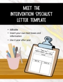 {FREEBIE} Editable Meet Your Intervention Specialist Welco
