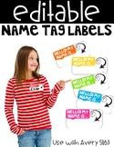 *FREEBIE* Editable Name Tag Labels