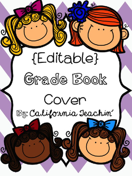 {FREEBIE} Editable Personalized Grade Book Cover