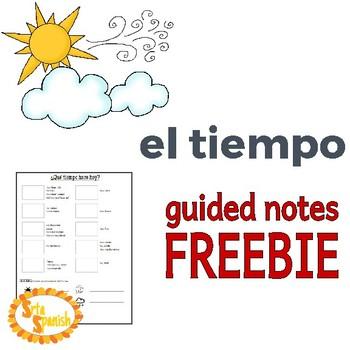{FREEBIE} El Tiempo - Notes Sheet